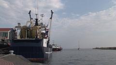 Harbor of Urk Stock Footage