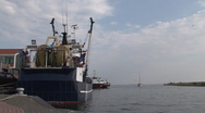 Stock Video Footage of Harbor of Urk