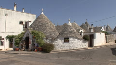 Italy Alberobello with trulli houses Stock Footage