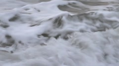 Closeup of sea waves Stock Footage