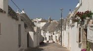 Stock Video Footage of Italy Alberobello street scene