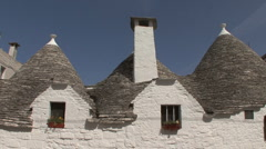 Italy Alberobello roof and chimmney - stock footage