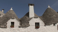 Italy Alberobello roof and chimmney Stock Footage