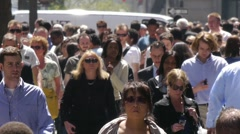 Crowd People Walk NY City Street 720P 60P Stock Footage