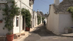 Italy Alberobello old man in street Stock Footage
