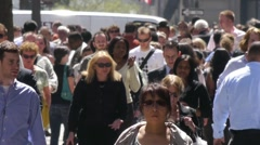 Stock Video Footage of nyc new york city pedestrians NY City Street Slow Motion