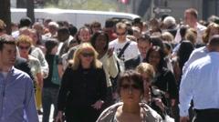 nyc new york city pedestrians NY City Street Slow Motion - stock footage