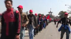 Nepal: Maoist demonstrations in the streets of Kathmandu Stock Footage