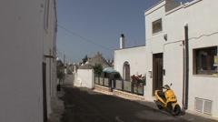 Italy Alberobello street scene Stock Footage