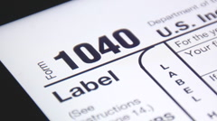 IRS 1040 Form Online for Printing. (1) Stock Footage