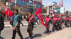 Nepal: Demonstrations on the streets of Nepal Stock Footage