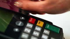 Payment by credit card. - stock footage