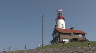 Stock Video Footage of Lighthouse on quay of Urk