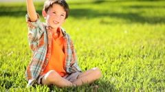 Little Boys Childhood Play - stock footage