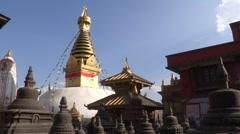 Nepal: Swayambhunath Stupa Stock Footage