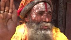 Nepal: Hindu Holy Man - stock footage