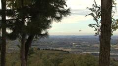 Italy Veneto Valpolicella helicopter Stock Footage