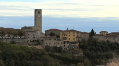 Italy Veneto Sant Ambrogio at dusk Stock Footage