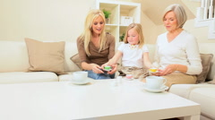Family Generations Tea Party Stock Footage
