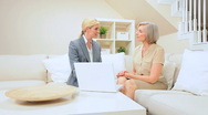 Senior Lady Client Having Financial Advice at Home Stock Footage