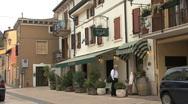 Italy Veneto Custoza cafe Stock Footage