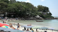 People walking, swimming, snorkeling, Kata Beach in Phuket Island, Thailand Footage