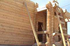 The wooden house Stock Footage