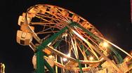Ferris Wheel Dutch Angle Night Stock Footage