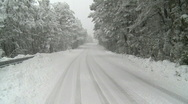 Snowying road Stock Footage