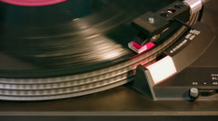 Turn Table LP Record On (HD) Stock Footage