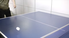 Playing pingpong Stock Footage