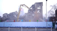 Stock Video Footage of Destroying old buildings