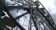 Ferris Wheel Dutch Angle Cloudy Day Stock Footage