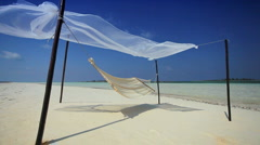 Beach Hammock on Luxury Vacation - stock footage