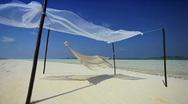 Beach Hammock on Luxury Vacation Stock Footage