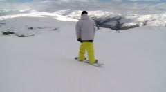 Riding with snow boarders Stock Footage
