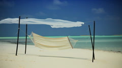 White Sand & Hammock on Hideaway Island - stock footage