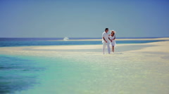 Attractive Couple Enjoying Dream Vacation Stock Footage