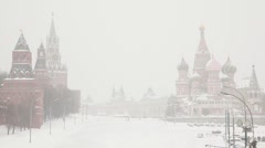 Moscow Kremlin and Saint Basil's Cathedral Stock Footage