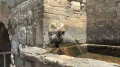 Fountain in Spello Italy Stock Footage