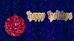 Happy Holidays Looping Animation Stock Footage