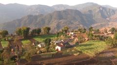 Nepal: Farm on a Hillside Stock Footage
