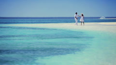 Caucasian Couple on Dream Vacation Island Stock Footage