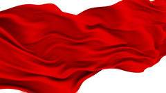 Red Cloth fluttering in the Wind. Stock Footage