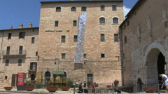 Italy Umbria walls of Spello Stock Footage