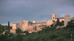 Italy Spello town Stock Footage