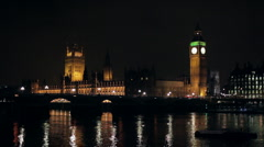 Westminster from the South Bank 2 Stock Footage
