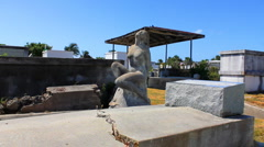 Bondage Statue in Historic Key West Cemetery Stock Footage