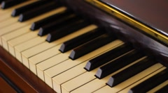 Piano keys with dolly and focus - stock footage