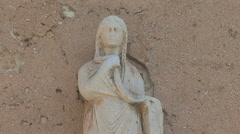 Umbria Spello statue of woman Stock Footage
